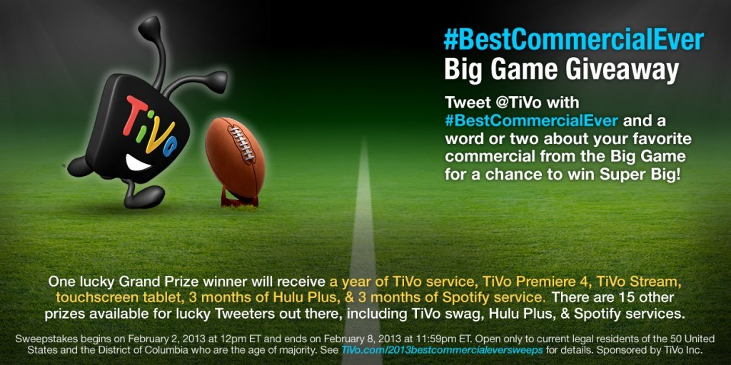 BestCommercialEver Big Game Giveaway! - TiVo Blog
