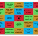 TiVo Awards Night Bingo Card