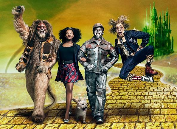 wiz live tinman, dorothy, scarecrow, lion