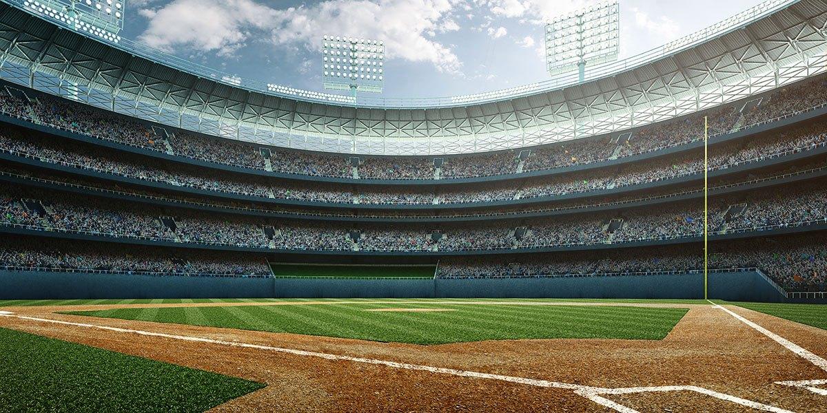 mlb baseball field stadium