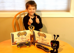 TiVo remote Pinewood Derby vehicle wins best in show!