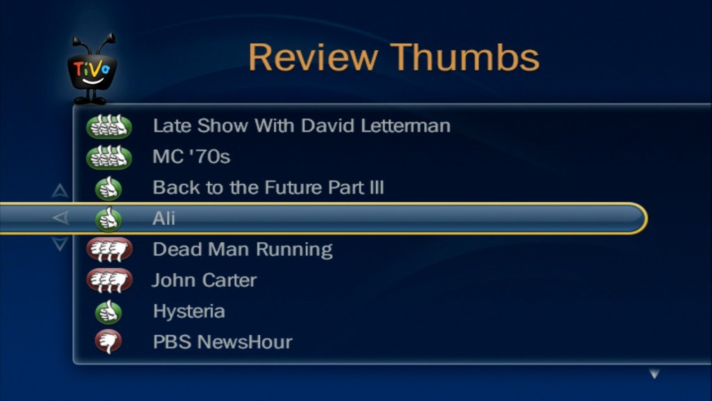Review Thumbs will help TiVo better understand you