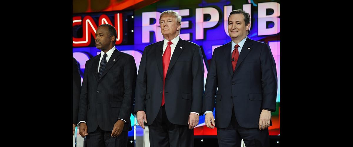Republicans standing at CNN debate