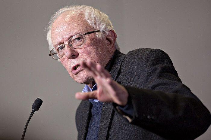 Bernie giving a speech