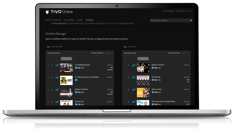 Keep your recording settings when you get a new TiVo box