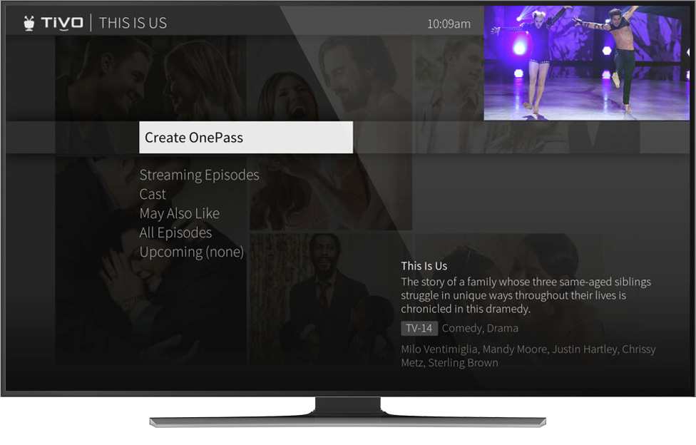 Set up your OnePass to stream and record your favorite shows by season