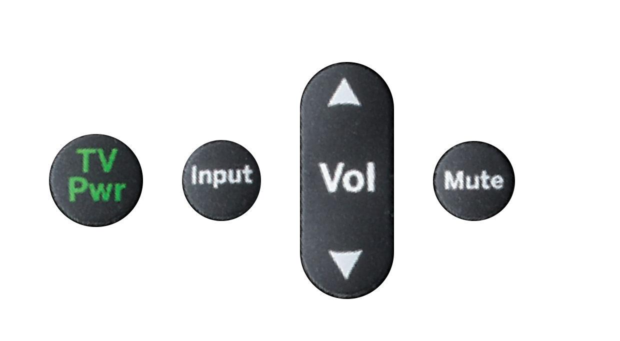 TiVo remote Power Input Volume Mute buttons